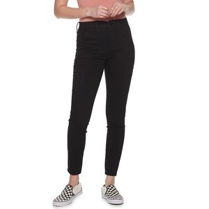 high rise black jeggings with pockets